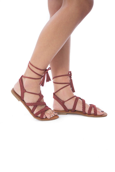 Step into Rome- Wine Sandal