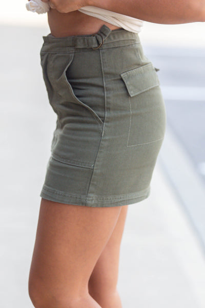 Stuck In The Moment-Mini Skirt with Pockets