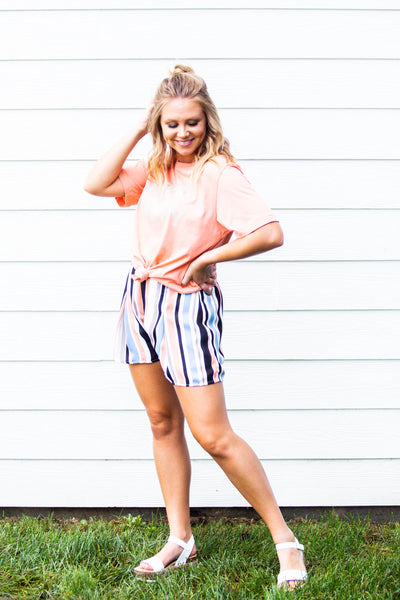 Natalie- Striped Shorts