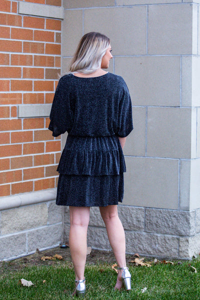 Isn't She Lovely-Frill Detail Long Sleeve Dress