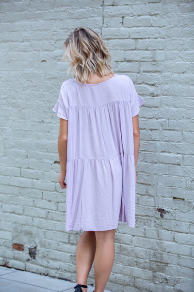 Weekend Brunch-Tiered Babydoll wVneck