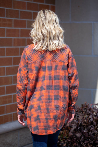 Autumn Again- Button Down Flannel Carrot