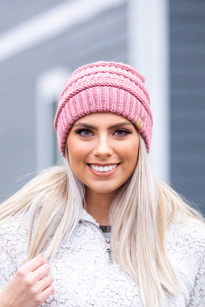 Throw Confetti- Beanie Dusty Pink