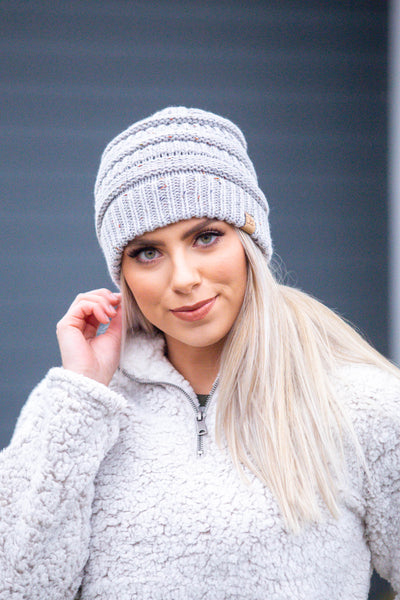 Throw Confetti- Light Grey Beanie