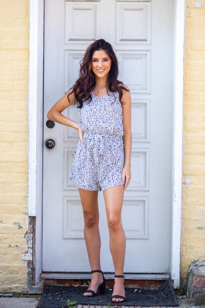 Wild Side- Printed Romper with Sash