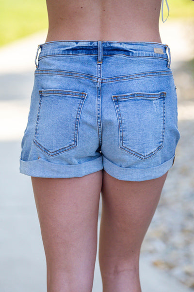 One Summer-High Rise Boyfriend Shorts