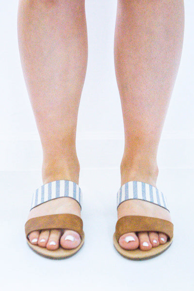 Beachie- Striped Band Sandal