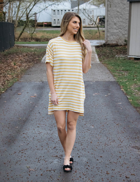 Easy Days- Striped Pocket Dress