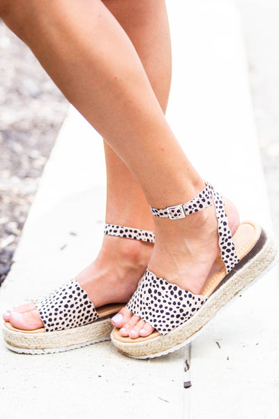 Daniella- Scalloped Cheetah Platforms