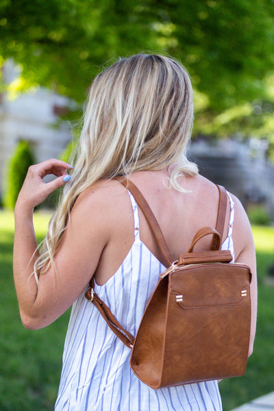 Every Day- Tan Backpack