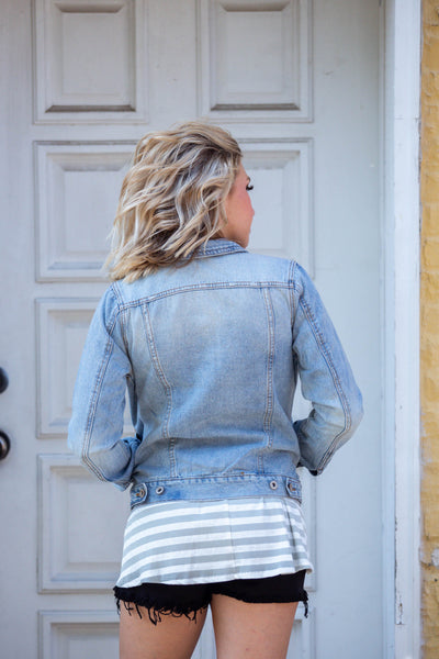 Sweet As Can Be- Light Denim Jacket