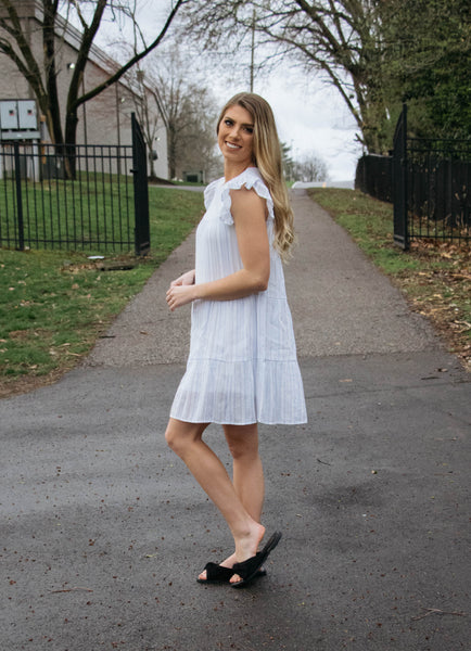 Dream On- Striped Babydoll Dress