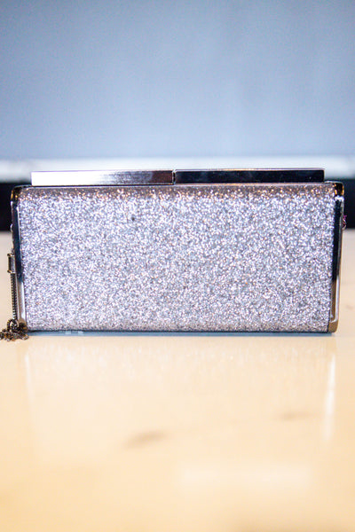 Stand Out- Glitter Clutch Gunmetal