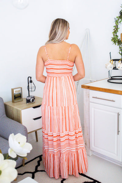 Everywhere-Striped Maxi Dress