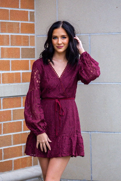 The Delightful-Crochet Wrap Dress