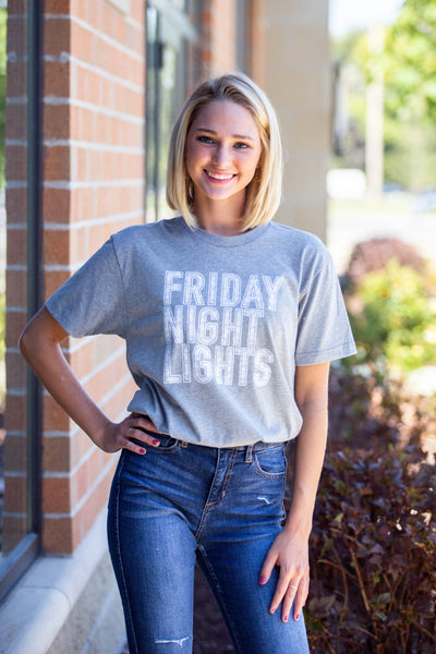 Friday Night Light- Dark Heather Tee
