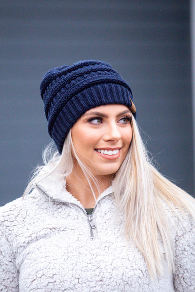 All Day, Every Day- Navy C.C. Beanie