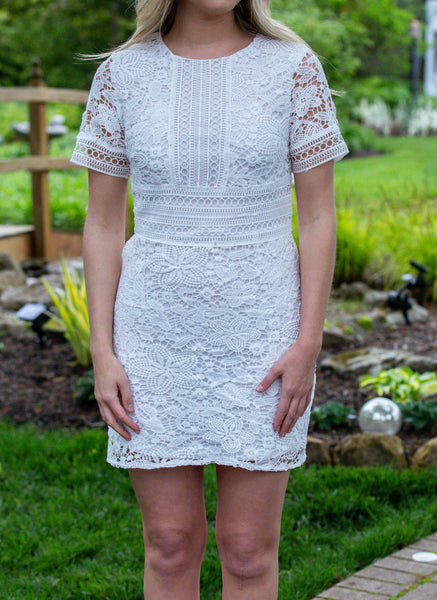 Vacay Mode- Crochet Lace Dress