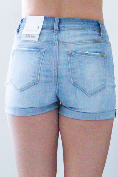 Americana-Light Wash Shorts