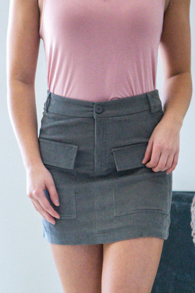 How About You-Front Pocket Mini Skirt