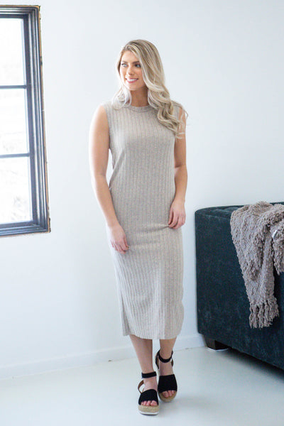 Sunday Afternoon-Ribbed Maxi Dress