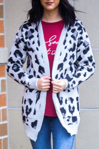 Leopard Is In-Leopard Print Pocket Cardigan