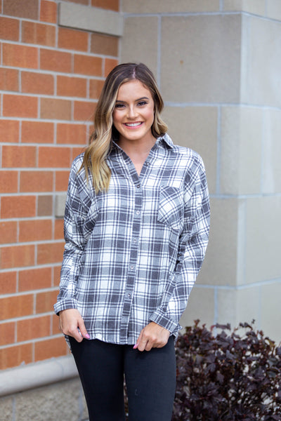 Autumn Again- Button Down Flannel Cream