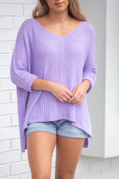 Easy Street-Lightweight Sweater with Folded Cuff