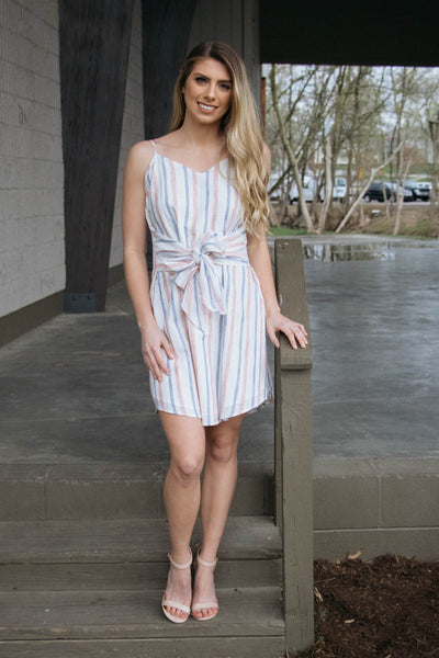 Delicate- Bow Mini Dress