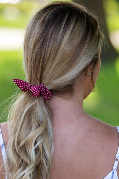 Celebration- Polka Dot Scrunchie Red