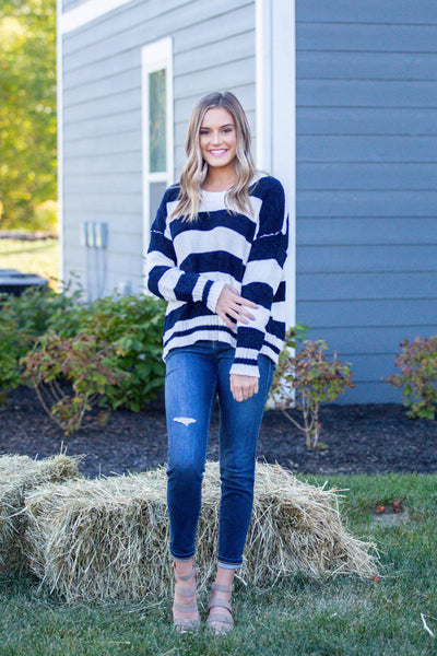 Savvy-Super Soft Striped Sweater