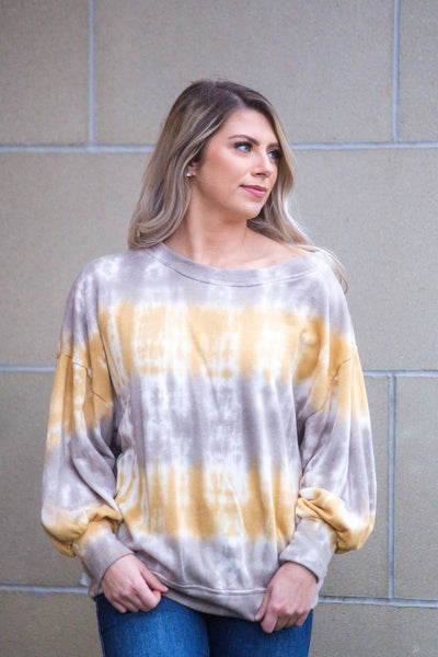 Hidden Valley-Tie Dye One Shoulder Top