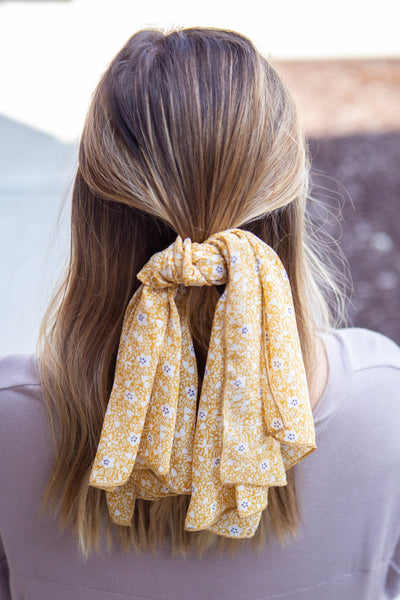 Yellow Daisy Hair Scarf
