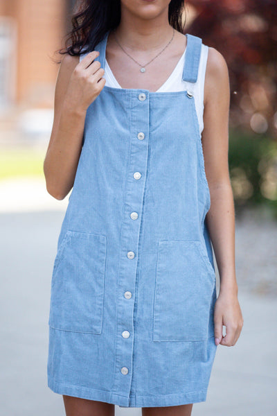 All The Love-Mini Overall Dress