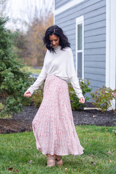 Lookin' So Cool-Leopard Print Pleated Midi Skirt