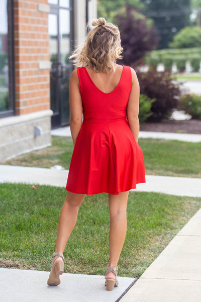 Gatsby- Fit and Flare VNeck Dress