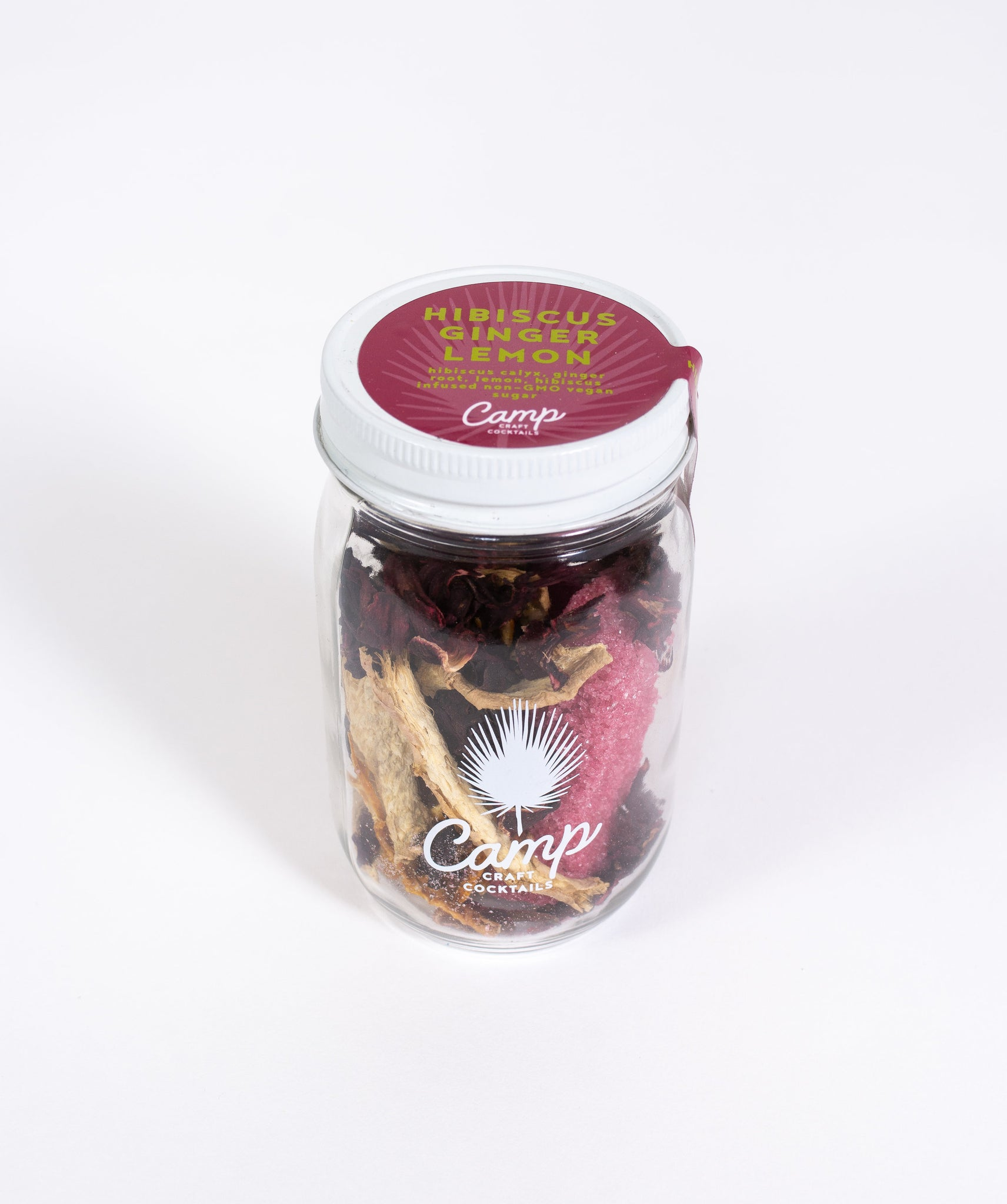 Craft Cocktail In a Jar Kit - Hibiscus Ginger Lemon