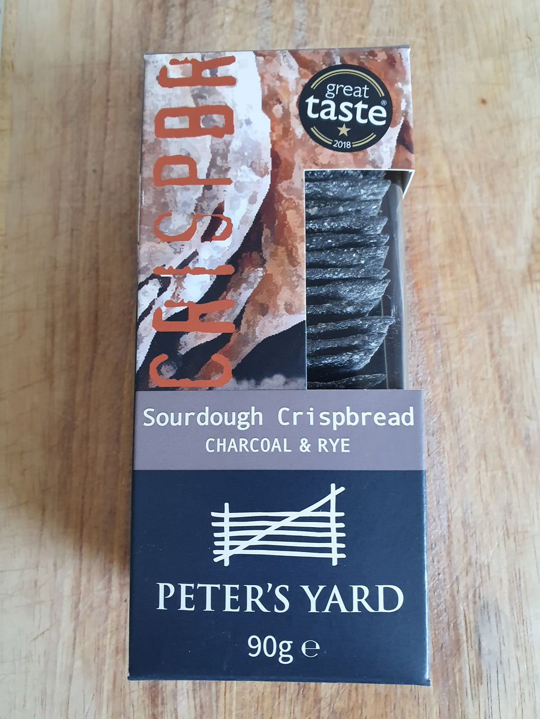 Charcoal and rye crispbreads - 90g