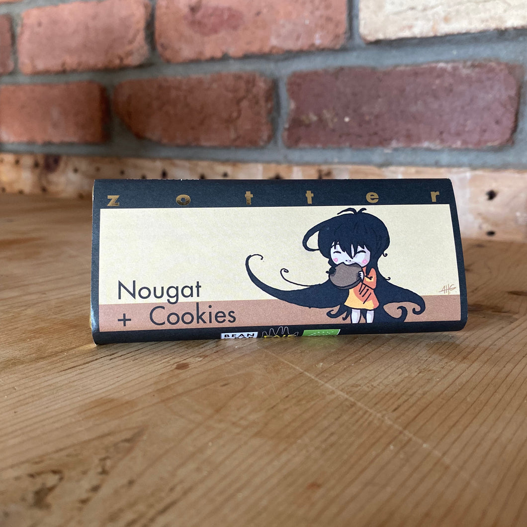 Nougat and cookies chocolate