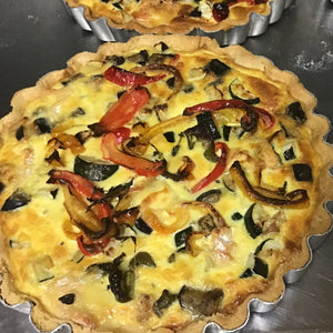 Squash, red pepper and ewes cheese quiche - Christmas pre-order