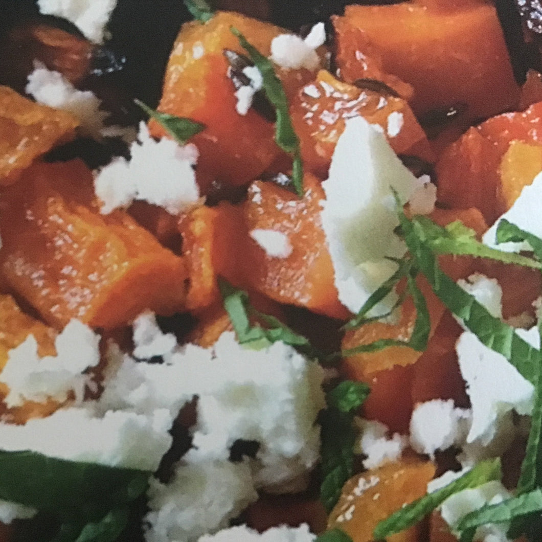 Carrot, caraway and feta salad