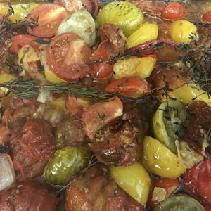 Confit heirloom tomatoes