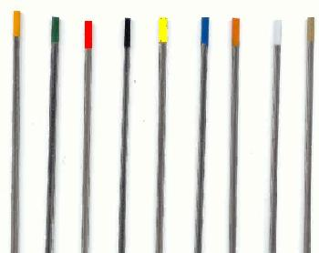 types of tungsten electrodes