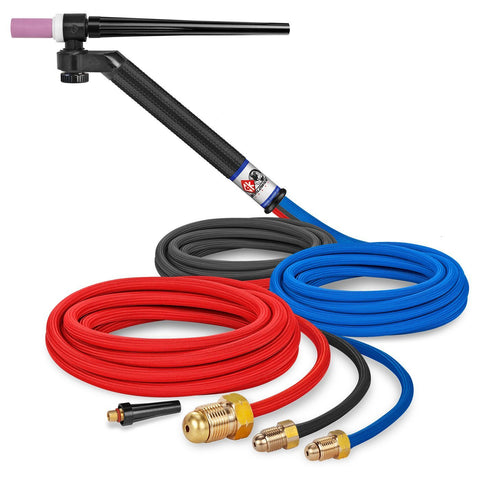 CK Worldwide TIG Torch FL230 - Water Cooled 2 Series (CK-FL2312SF) w/ 12.5' Super Flex Hose