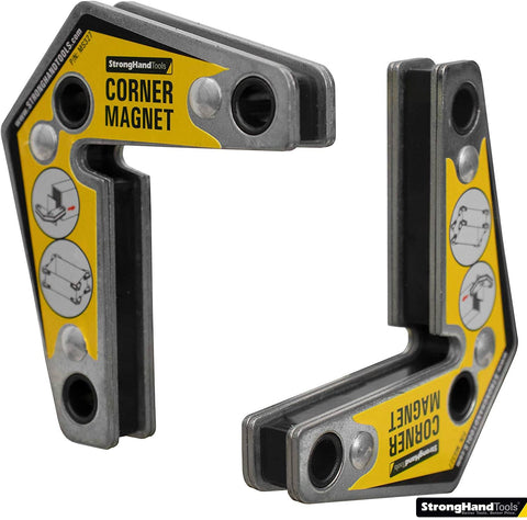 Strong Hand Tools - Magnetic Corner Squares, (Twin Pack), 12°, 90° & 60° Angle Setting
