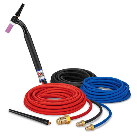 CK Worldwide TIG Torch #20 - 2 Series (Water Cooled) (CK20-25SF FX) w/ 25' Super Flex Hose