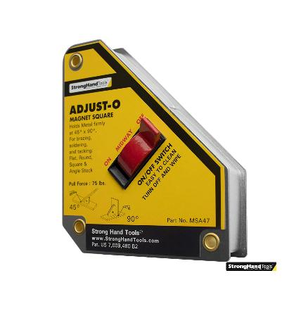 Strong Hand Tools® ADJUST-O Magnet Square Part#MSA47