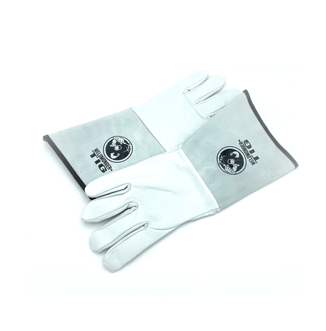 Weldmonger® TIG Welding Gloves - White/Gray 5.9cm Cuff