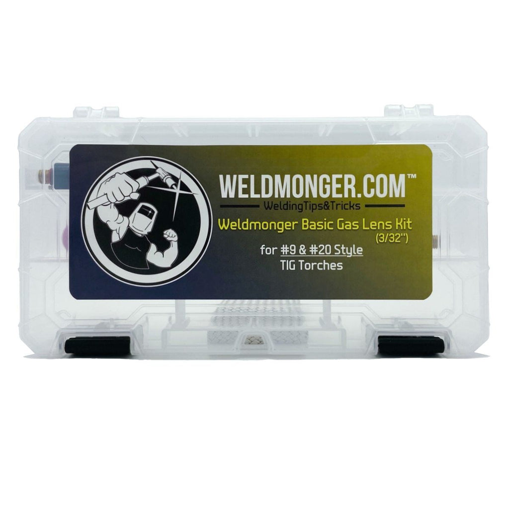 CK Worldwide / Weldmonger™ Basic 3/32'' (2.4mm) #9/20 Gas Lens Kit