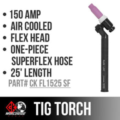* CK Worldwide TIG Torch - CK-FL1525SF-Weldmonger Store (USA)
